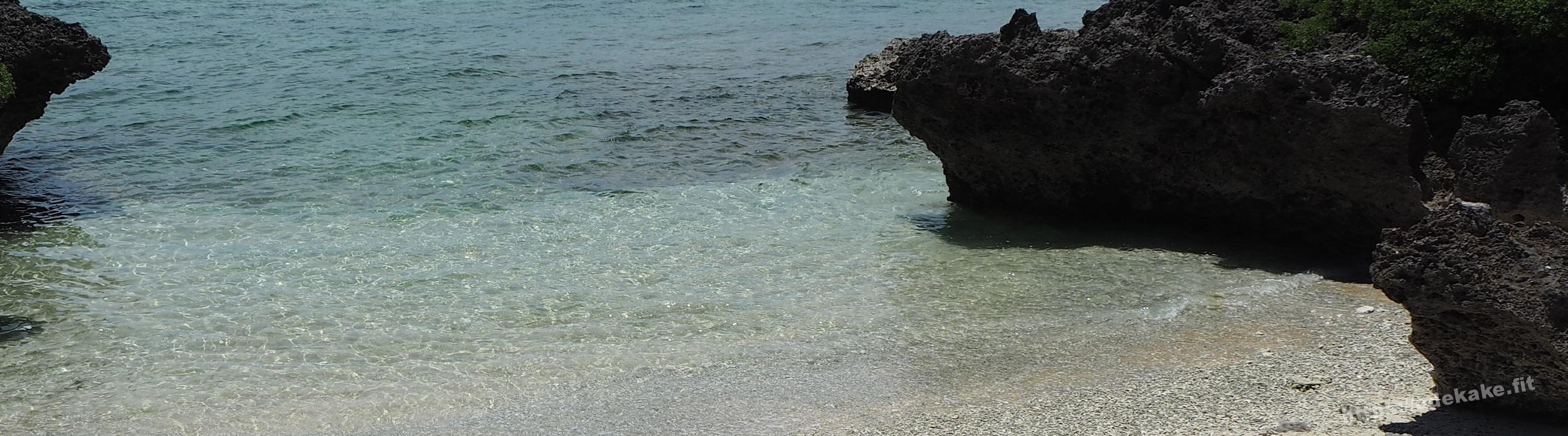 【波照間島7】ナリサ浜の珊瑚の山に座って1人黄昏る(サンゴ浜/毛崎)