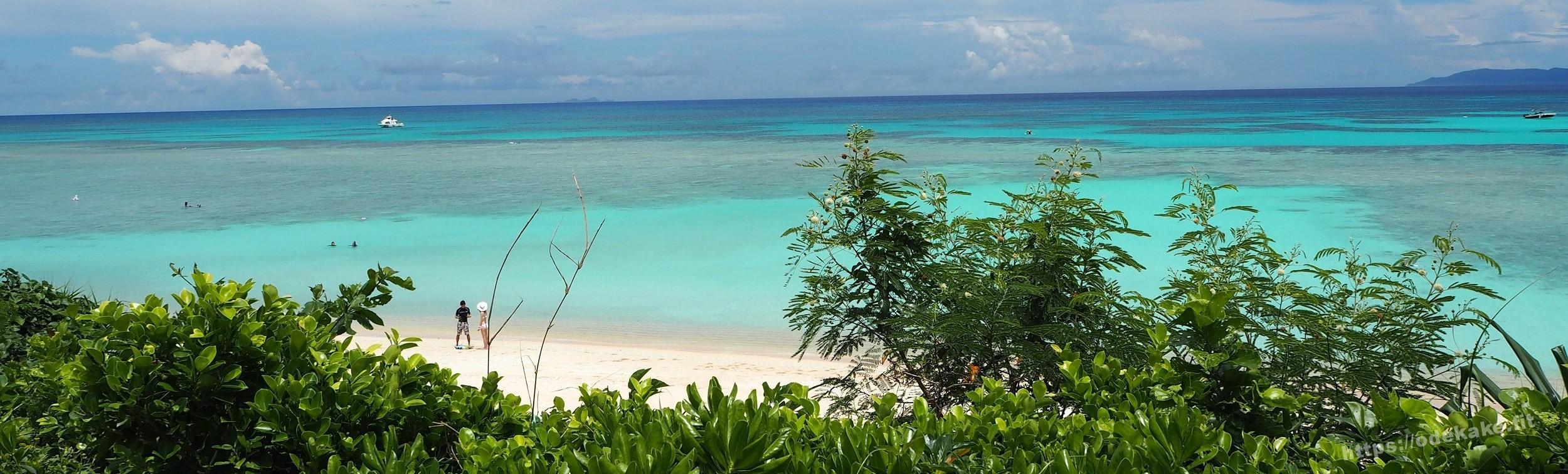 【波照間島3】ニシ浜の海に入ってみた♥ハテルマブルーのメインビーチ